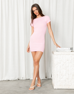 Arely Mini Dress (Pink) - Pink Mini Dress - Women's Dress - Charcoal Clothing
