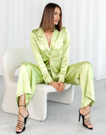 Astro Crop Top - Green Knit Crop Top - Women's Top - Charcoal Clothing