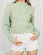 Envie Knit - Green Knit Jumper - Women's Top - Charcoal Clothing