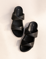 Copy of Zonya Slides (Black) by Billini - Charcoal Clothing - Women's Shoes - Charcoal Clothing