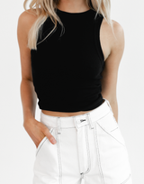 The Beverly Midi Skirt - Cream and Brown Polka Dot Midi Skirt - Women's Skirt - Charcoal Clothing