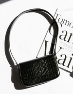Hansel Bag by Peta + Jain (Black) - Black Croc Shoulder Bag - Women's Bag - Charcoal Clothing