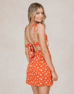 Maisy Mini Dress (Rust) - Orange Floral Mini Dress - Women's Dress - Charcoal Clothing