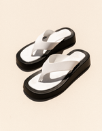 Yogi Sandals (White) by Billini - Charcoal Clothing - Women's Shoes - Charcoal Clothing