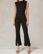Shea Jumpsuit by 4th & Reckless - Charcoal Clothing - Women's Jumpsuit - Charcoal Clothing