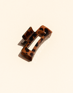 Marissa Clip (Dark Tortoise) - Tortoiseshell Hair Clip - Women's Hair - Charcoal Clothing