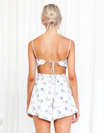 Promise Me Playsuit - Cream and Lilac Floral Playsuit - Women's Playsuit - Charcoal Clothing