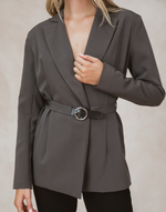Brooke Blazer by 4th & Reckless - Charcoal Clothing - Women's Top - Charcoal Clothing
