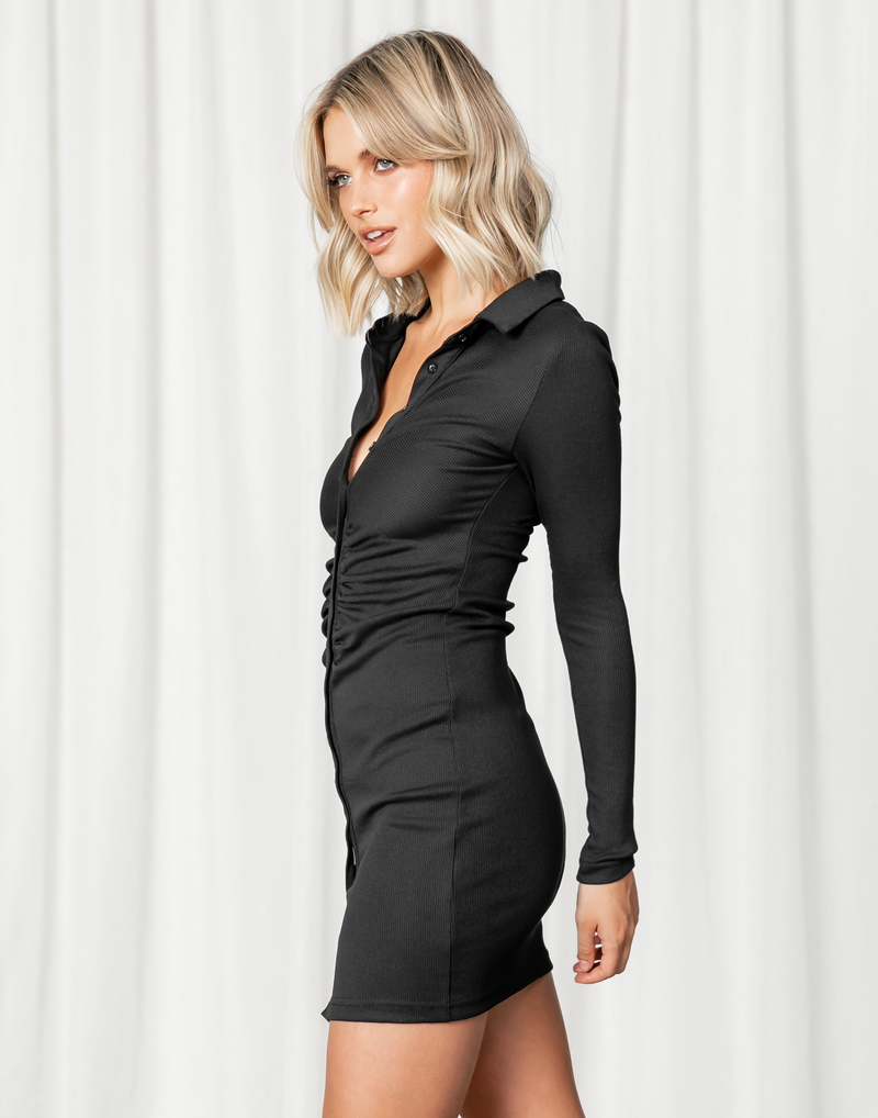 - Women's Dress - Charcoal Clothing
