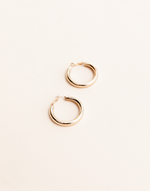 Sistine Earrings - Basic Gold Hoop Earrings - Women's Earrings - Charcoal Clothing