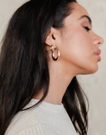 Zoe Earrings - Gold Earrings - Women's Earrings - Charcoal Clothing