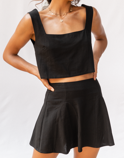 - Women's Skirt - Charcoal Clothing