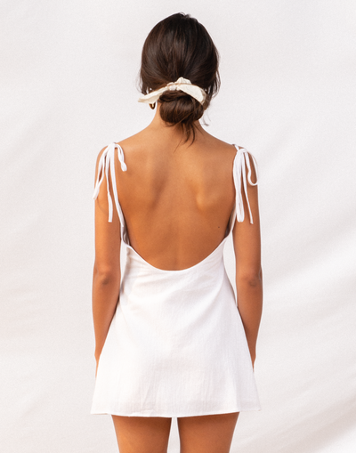 Soleil Mini Dress (White)