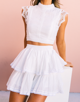 Lover Girl Crop Top (White)