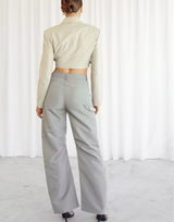Taylynn Set (Tan) - Tan Knit Jumper and High Waisted Pants - Women's Set - Charcoal Clothing