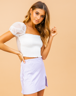 Juliana Crop Top (White)