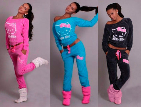 Hello Kitty Woman Hoodies Set Cardigans