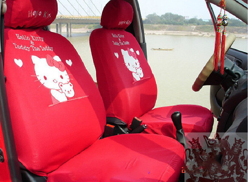 Hello Kitty Red Car seats cover set