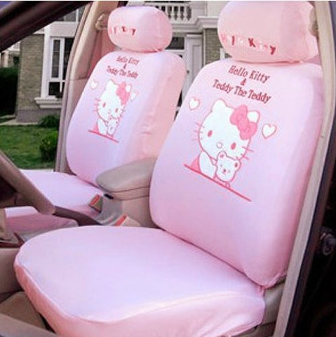Hello Kitty & Teddy Pink Car seats cover set