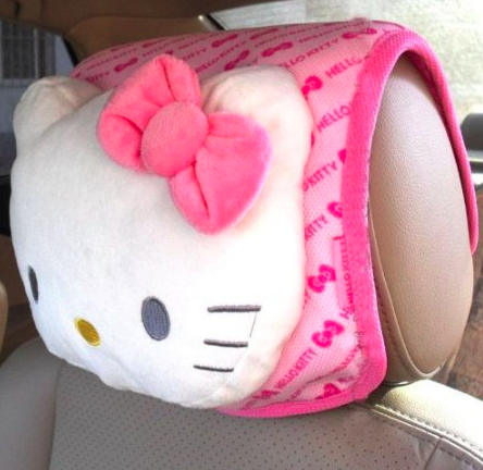 Hello Kitty Pink car interior headrest cusion with bowknot