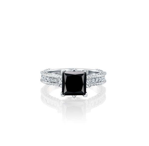 Paris In Black Ring - Black Diamond & White Gold Ring by DANA ARISH