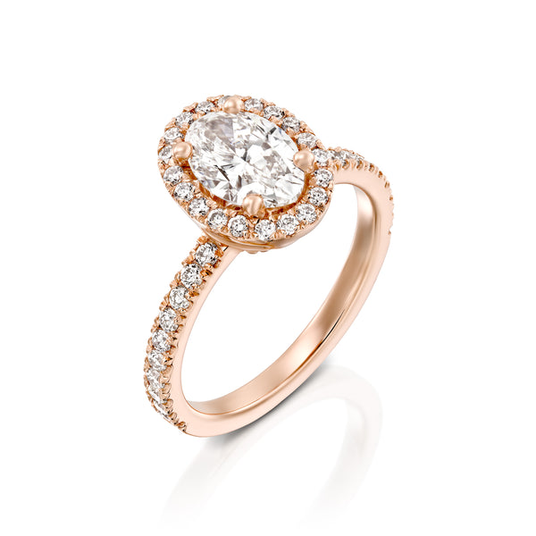 'True' - Luxurious Engegmant Ring, Oval Diamond & Gold Engegmant Ring, DANA ARISH