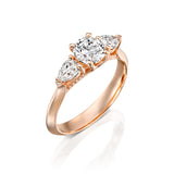 Contemporary and Classic Bold Elegant 'Audrey' Engagement Ring - DANA ARISH