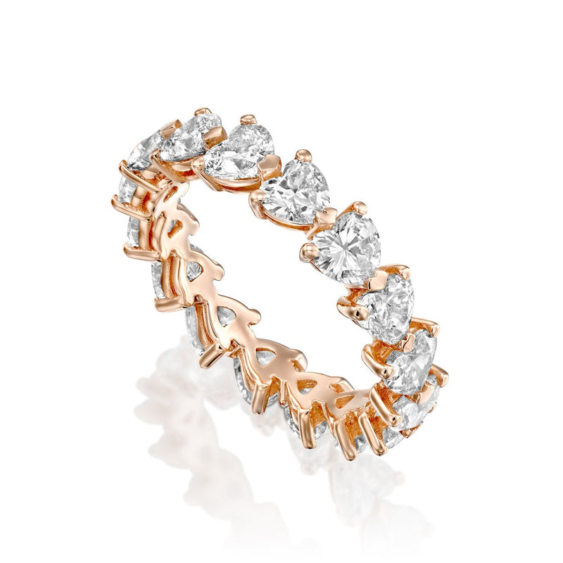 Diamond Ring, 18k Rose gold, Carat total weight 4.20