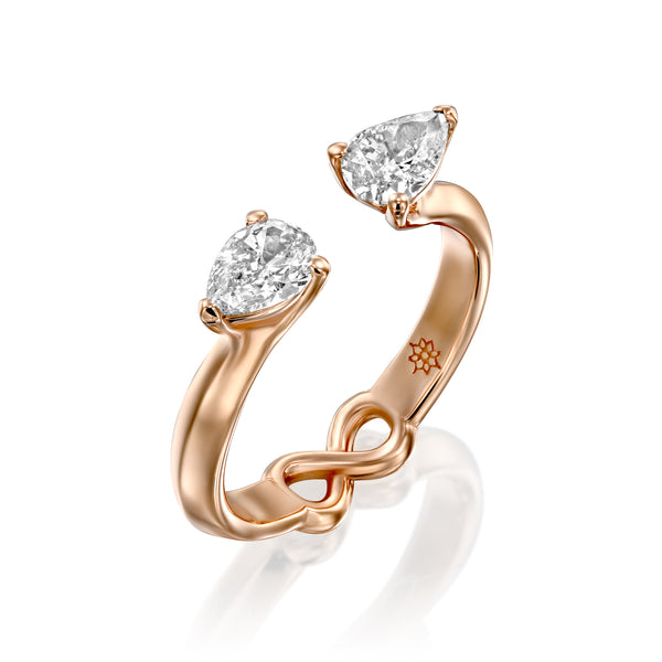 Iris Drops Ring, ARISH Infinity Symbol, Gold & Diamond Ring by DANA ARISH Jewelry