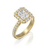 'Rome' Diamond & Gold Engegmant Ring by DANA ARISH