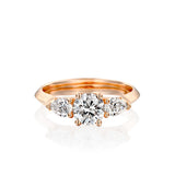 Audrey Ring - A Romantic 3 Stone Gold & Diamond Engagement Ring by DANA ARISH