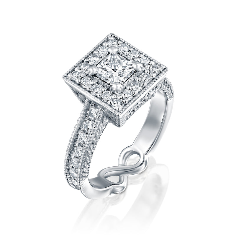 Drama Ring - Gold & Diamond Engagement Ring - DANA ARISH