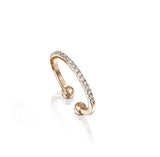 Fine Line Ring, Rose Gold & Diamonds Ring, by DANA ARISH