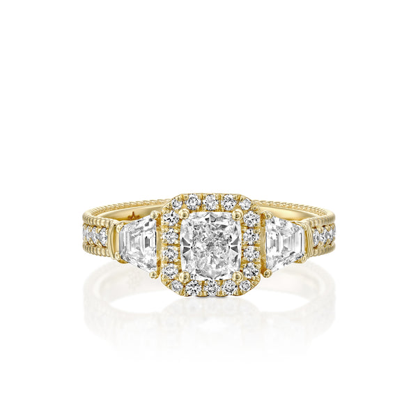Fantasy Hola Engagement Ring - Gold & Diamond Engagement Ring by DANA ARISH