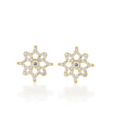 Yellow Arish Mini LOGO Earrings, Yellow Gold & Diamonds Earrings by DANA ARISH