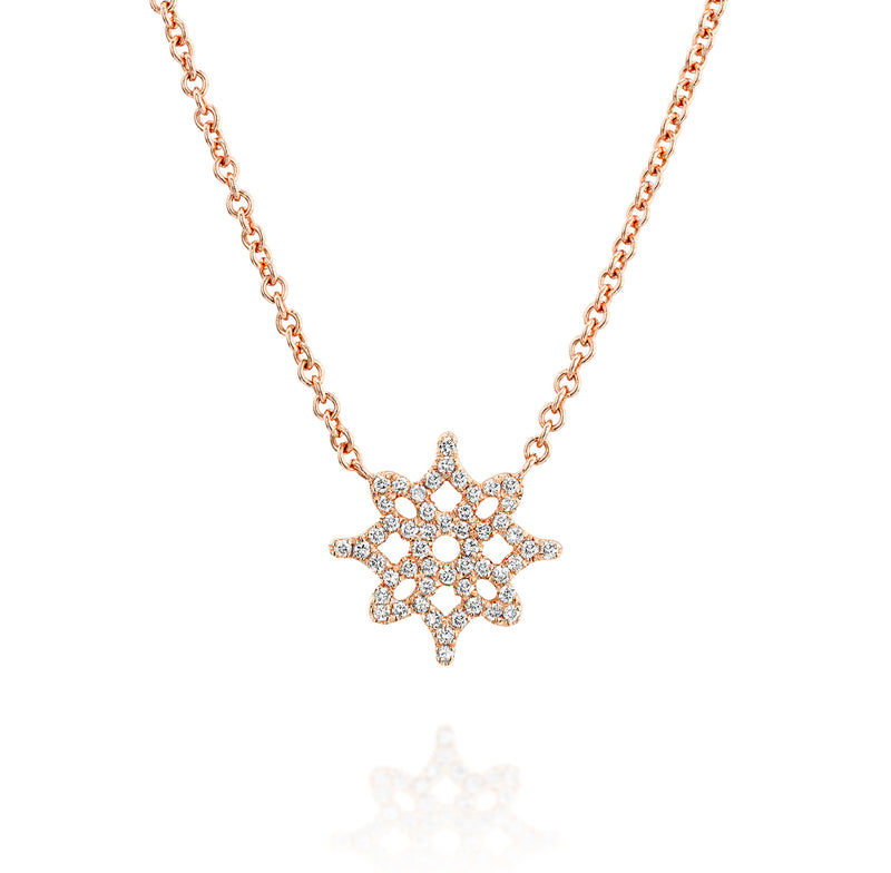 LOGO Pendant - Rose Gold & Diamond Necklace by DANA ARISH