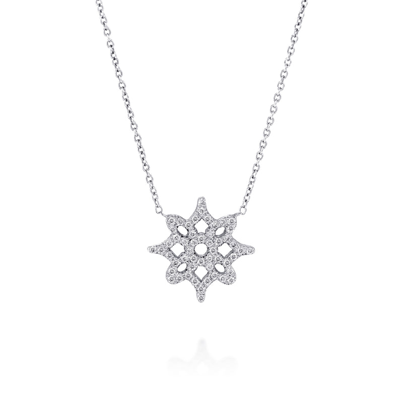 LOGO Pendant - White Gold & Diamond Necklace by DANA ARISH