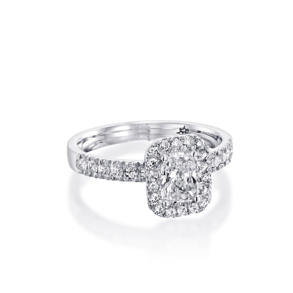 Classic Radiant Ring - Diamond Ring & White Gold Engagement Ring, DANA ARISH Jewelry