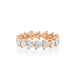 Eternity Hearts Ring, Rose Gold Diamond Ring - Dana Arish