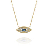 Yellow Gold, Sapphire & Diamonds Necklace - The Marquise Eye by DANA ARISH