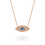 The Marquise Eye - Rose Gold, Sapphire & Diamonds Necklace - DANA ARISH