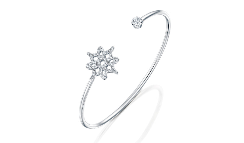 ARISH LOGO Wire Cuff One Center Diamond - DANA ARISH