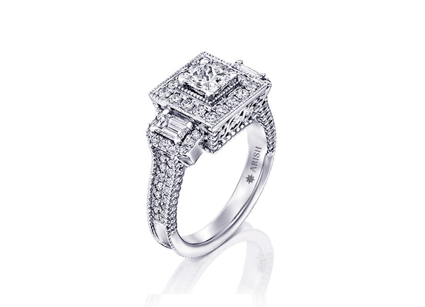 Eva Ring, Bold and Beautiful. Carefully crafted from 18-karat white gold this engagement ring