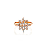 ARISH Logo Ring, Rose Gold & Diamond by DANA ARISH Jewelry