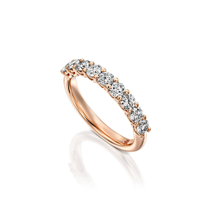 14k Rose gold Ring, round brilliant Diamond Ring by DANA ARISH
