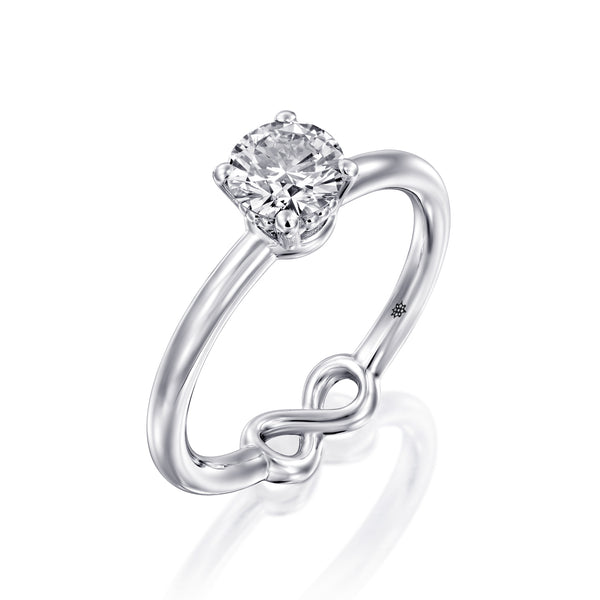 Silhouette - White Gold & Diamond Engegmant Ring by DANA ARISH