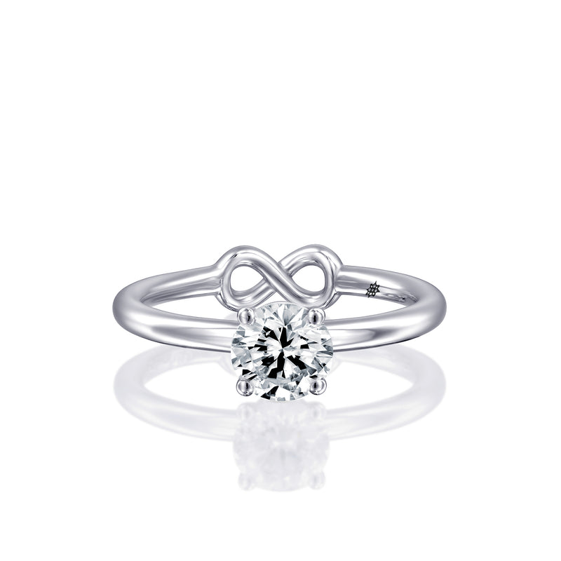 Engegmant Ring by DANA ARISH, White Gold & Diamond Ring features Infinity Symbol