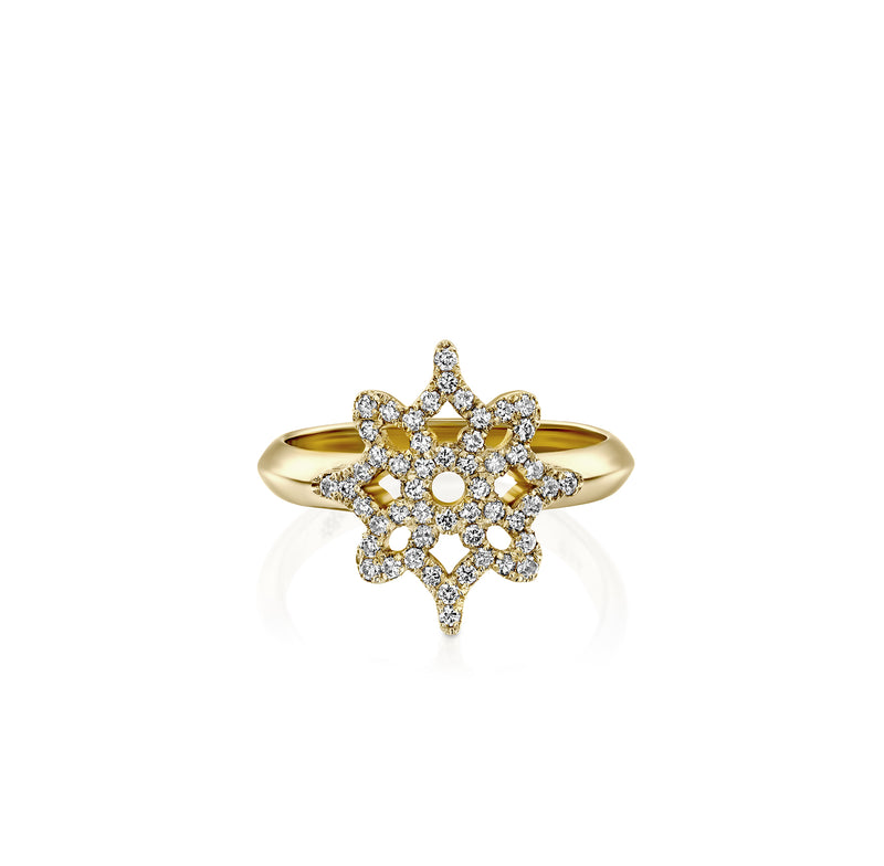 ARISH Logo Ring, Yellow Gold & Diamond by DANA ARISH Jewelry