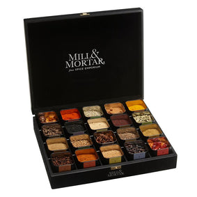 Mill & Mortar - Spice Chest med 20 dåske spices