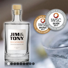 Jim & Tony Buckthorn Gin 350 ml. 48,9%